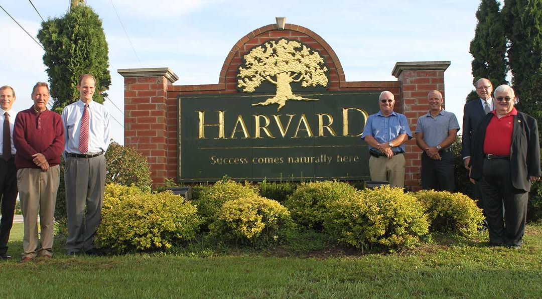 Welcome to Harvard Sign Shines Brightly
